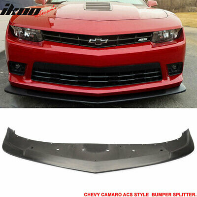 Fit For 14-15 Chevrolet Camaro A-Style Front Bumper Lip Chin Splitter PU