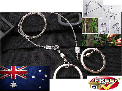 Emergency Survival Steel Wire Saw Hunting Camping Commando Hiking Climbing Prep