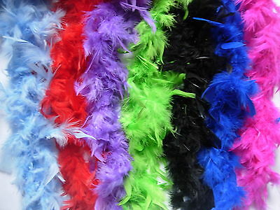2M Feather Boa Accessorio Costume Burlesque Showgirl Ballerina 12 Golour