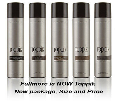 TOPPIK Colored Hair Thickener Spray 5.1oz., Choose your color