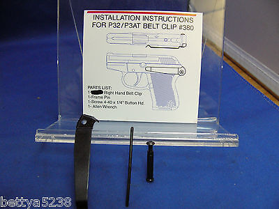 KELTEC  Belt Clip for the Ruger LCP 380 and Kel Tec 380  and P32  RIGHT HAND