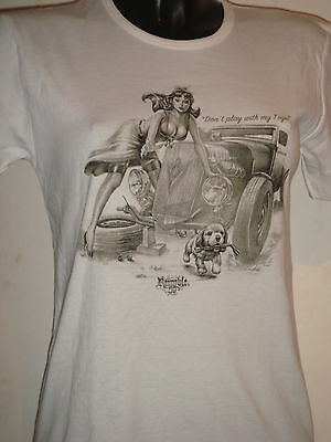Mode rock biker FEMME Tee shirt  blanc  Rumble59  DON`T PLAY WITH MY TOYS