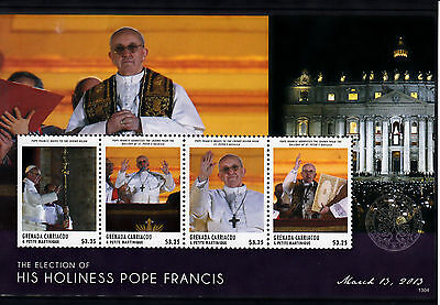 Grenadines Grenada 2013 MNH Election His Holiness Pope Francis 4v M/S Carriacou