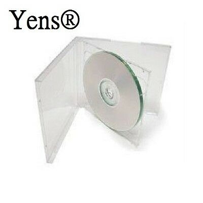 Yens® 50 pcs New Clear Double Standard CD DVD Jewel Case 10.2mm  50#10CCD2