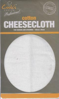 Muslin Cheese Cloth - 180cm x 90cm, STRAIN STRAINING STEAMING CHEESE MAKING