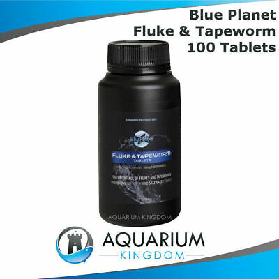 Blue Planet Fluke & Tapeworm Tablets 100 Tabs/Pack - Fish Medication - Discus