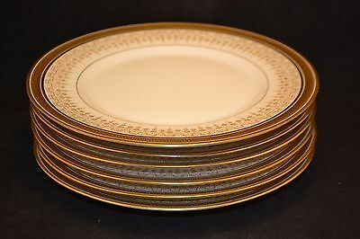 """Set of six (6), 8 1/4"""" sandwich plates by D&Co., Limoges  ND2920"""