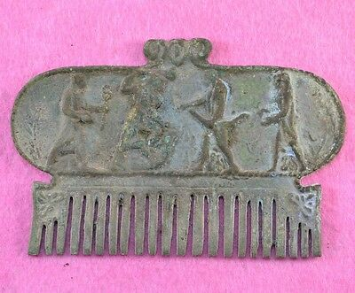 Roman Bronze Comb Beautiful and Detailed!