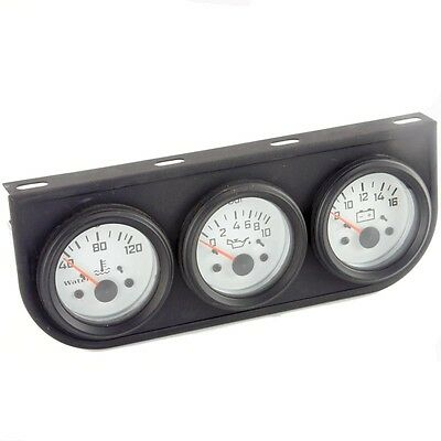White Faced TRIO Gauge Set