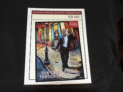 2003 New Orleans -Jazz Fest- Louis Armstrong-Placard