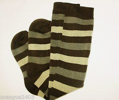 Boys Cushion Ski Hiking Riding Welly Thermal Boot Socks Khaki Camo Army