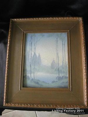 """1919 ROOKWOOD VELLUMN PLAQUE BY LENORE ASBURY 15"""" BY 13"""""""