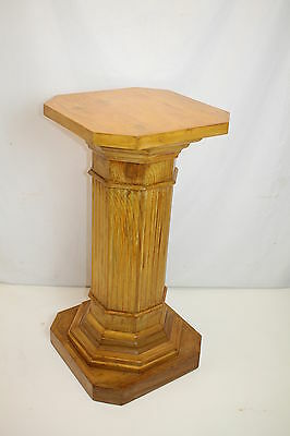 Victorian Wide Pedestal Column Post Plant Statue Stand, Circa 19th, Finished!