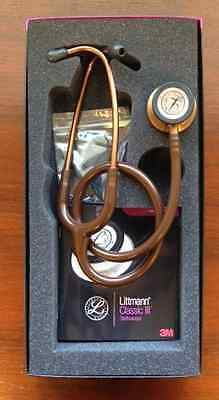 "3M Littmann Classic III 27"" Stethoscope CHOCOLATE/Copper Chestpiece #5809 New"
