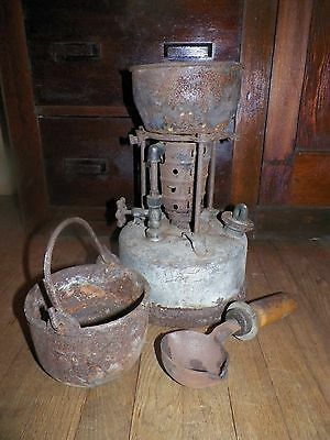 Antique Melting Furnace Smelting Pot Heavy Ladle As-Is Untested Steam Punk Look!