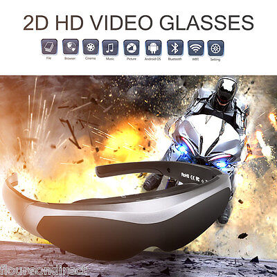 """72"""" Virtual Digital Portable Video Glasses Support TF Card For TV PS2 PS3 Xbox"""