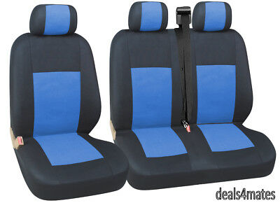Blue Fabric Seat Covers For VW TRANSPORTER T5 T28 2+1