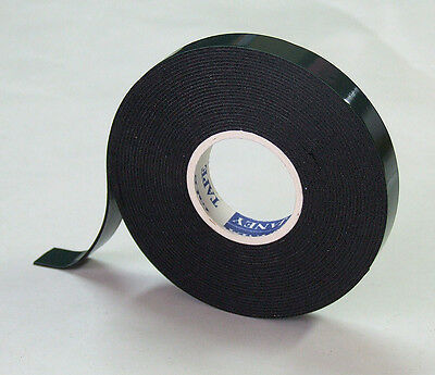 5 x STRONG BLACK DOUBLE SIDED SELF-ADHESIVE TAPE FOAM 15mm x 1mm x 5m
