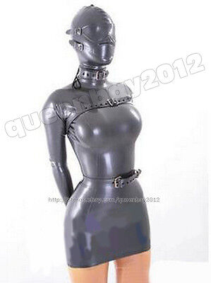 100% Latex Rubber Gummi 0.45mm Dress Skirt Mask Goggles Suit Catsuit Buckle New