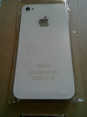 ricambio Cover Posteriore Bianca Originale oem in Vetro per iPhone 4