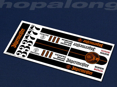 Scalextric/Slot Car 1/32 Waterslide Decals. ns038
