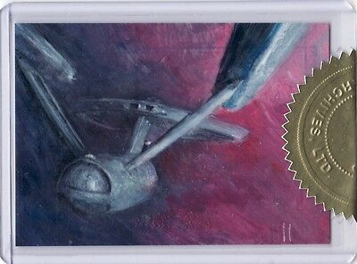 Star Trek Portfolio Prints Charles Hall 6 case Incentive Sketch Card c