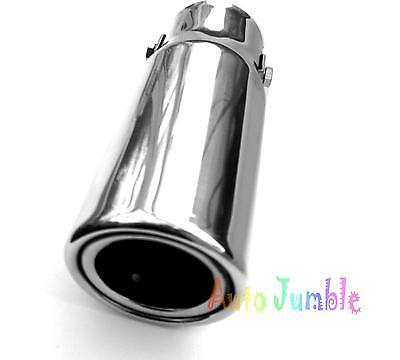 small car van DELUX Exhaust pipe tip trim chrome tail piece bore tailpipe cover