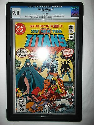 The New Teen Titans #2 (Dec 1980, DC) CGC 9.8 White Pages 1st Deathstroke