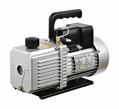 """HFS 12 CFM Vacuum Pump Two Stage 110V 1HP - INLET: 1/4"""" & 3/8"""" SAE – For 1.9 Ove"""