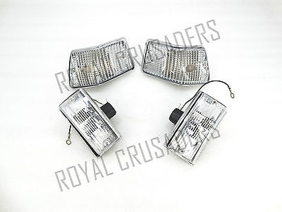 New Vespa Front & Rear Indicator Set Of 4 Px/lml Clear Lens #vp516