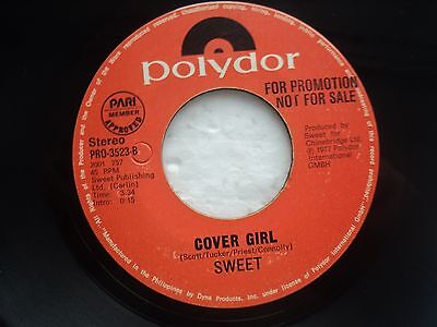 The Sweet -Love is like oxygen/Cover Girl - ULTRA rare PHILIPPINES PROMO 45 RPM