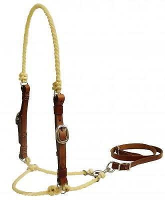 Western Saddle Wax Coated Lariat Rope Tie Down Leather Cheeks  - NEW HORSE TACK