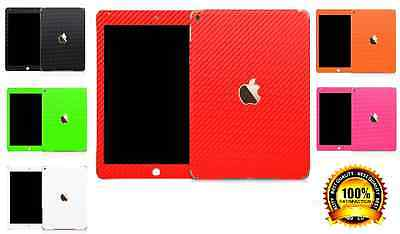 3D Textured Carbon Fibre Wrap Skin Decal Sticker Vinyl For IPAD 2