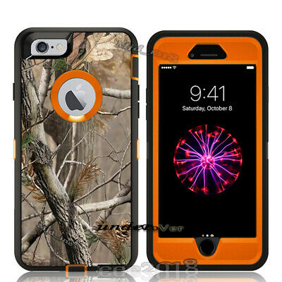 For iphone 6 / 6 plus Defender Case (Belt Clip Fits Otterbox) Holster Camo