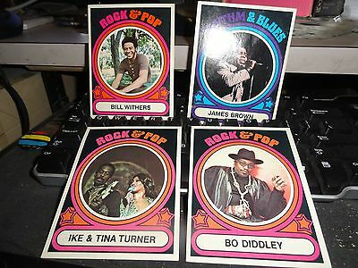 ROCK & POP    CARDS    Lot(BO DIDDLEY,BILL WITHERS,JAMES BROWN,IKE & TINA)