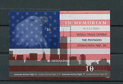 Grenada 2011 MNH September 11th Memorial 1v S/S WTC Pentagon Stamps