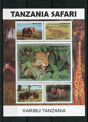 Tanzania 2007 MNH Karibu Safari 5v M/S Wild Animals Elephants Lions Leopards