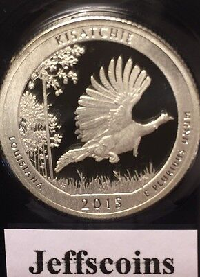2015 S Kisatchie National Forest 90% Silver Proof QUARTER Louisiana Park Lowest