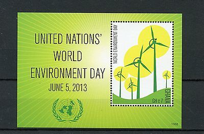 Ghana 2013 MNH United Nations World Environment Day 1v S/S Windmills