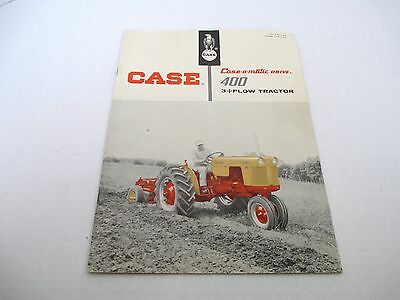 Vintage Case Case-o-matic 400 3 Plow Tractor Advertising Catalog Brochure #10
