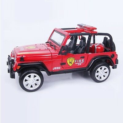 NO.868 JEED Fire Department 319 Die-cast Metal Miniature Scale Red