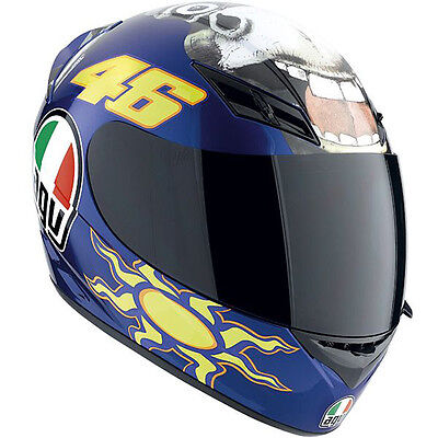 AGV K-3 Valentino Rossi Donkey Replica Motorcycle Helmet (Blue) Choose Size