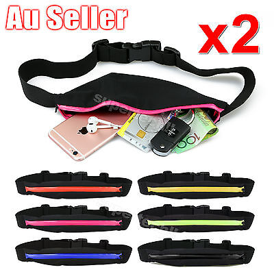 Waist Running Zip Belt Cycling Hiking Jogging Cycling Pouch Lycra Bum Bag Pocket