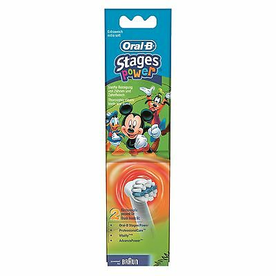 Oral-B Stages Power Mickey Kids Heads Twin Pack - 2 Packs