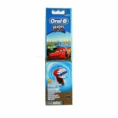 Oral-B Stages Power Kids Disney Cars Electric Toothbrush Heads Twin Pack