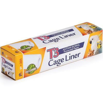 9 In Wide x 25 Ft Long T3 Odor Control Bird Bird Cage Liner Paper by Prevue