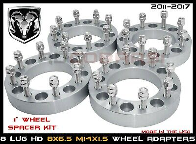 "8 lug Silverado 2500 3500 1"" Thick Wheel Spacers Adapters Fits 1988-2010"