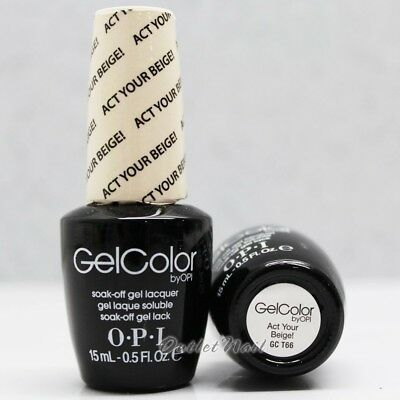 OPI GelColor Soft Shades Collection GC T66 ACT YOUR BEIGE! 0.5oz/ 15mL Gel Color