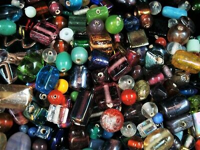 Glass Bead Mix 100g Mix Asst Shapes and Sizes Jewelry Jewellery FREE POSTAGE