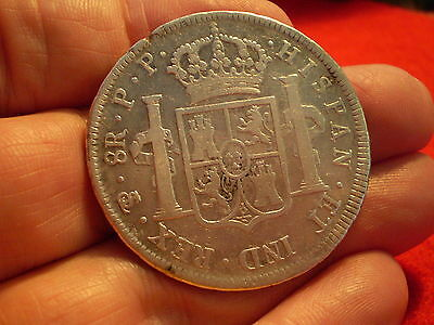 Bolivia Potosi 1797 Carolus 1111 8 Reales Nice Early Colonial Historic Coin